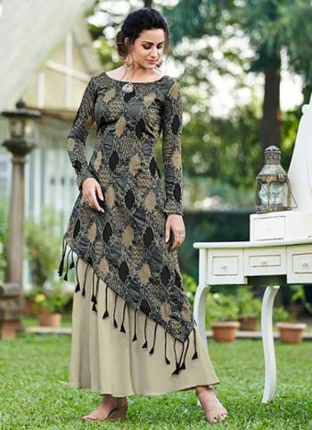 Grey Jacquard Silk Party Wear Embroidery Work Gown