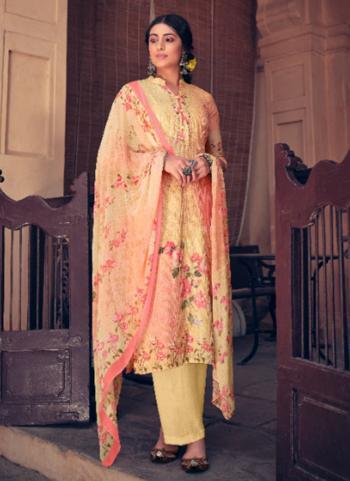 Pink Muslin Festival Wear Digital Printed Palazzo Suit