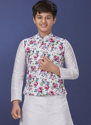 Multi Cotton Party Wear Printed Work Boys Coat