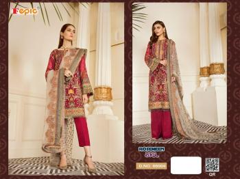 Dark Pink Georgette Traditional Wear Embroidery Work Pakistani Suit