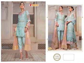 Sky Blue Net Traditional Wear Embroidery Work Pakistani Suit