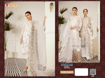White Georgette Net Traditional Wear Embroidery Work Pakistani Suit