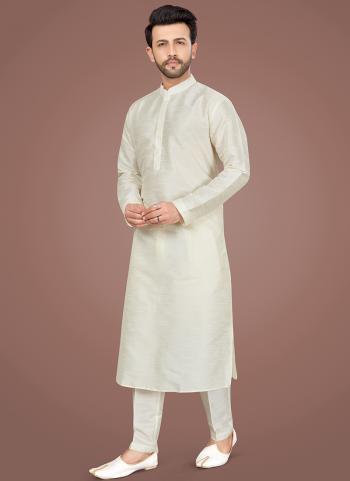 Lemon Art Silk Festival Wear Weaving Kurta Pajama