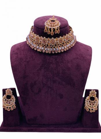 Multi Colour Diamond Studded Wedding Jewellery Set