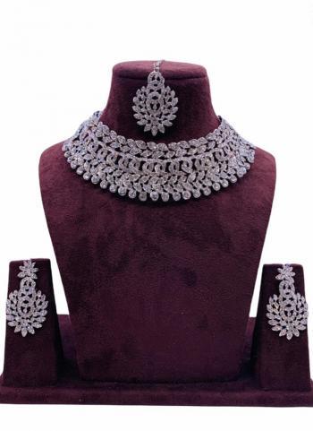 Silver Plated Diamond Studded Wedding Jewellery Set