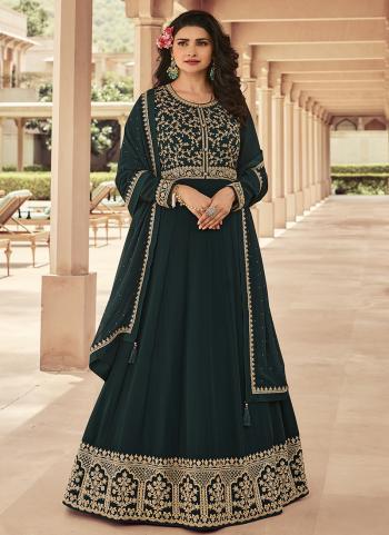 Rama Georgette Reception Wear Embroidery Work Anarkali Suit