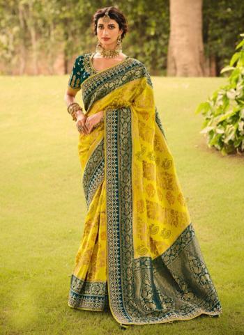 Navy Blue Dola Silk Reception Wear Embroidery Work Saree