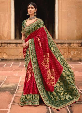 Rani Dola Silk Reception Wear Embroidery Work Saree