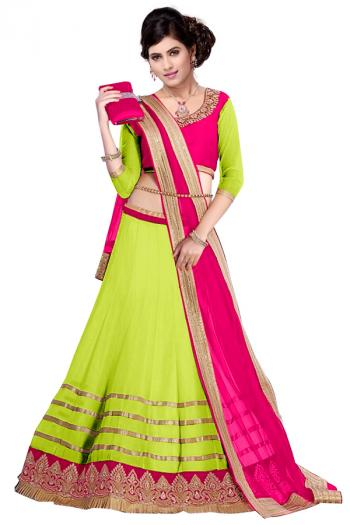 Blue Net Lace Work Wedding Wear Lehenga Choli