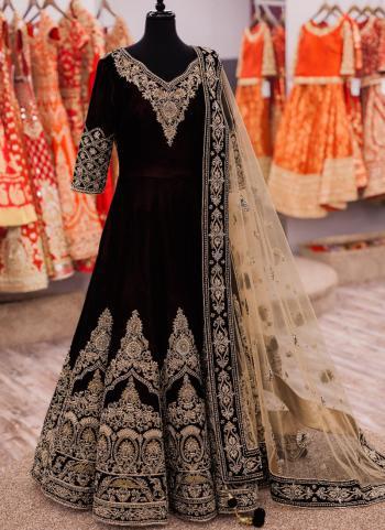 Black Banglori Silk Party Wear Heavy Embroidery Work Anarkali Suit