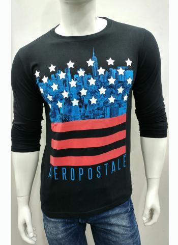 Trendy Casual Wear Black Cotton Plain T-Shirts