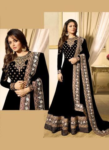 Black Georgette Festival Wear Embroidery Work Anarkali Suit