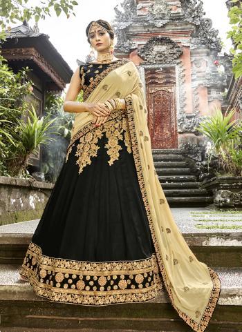 Black Georgette Party Wear Embroidery Work Lehenga Choli