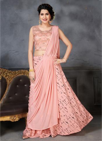 Reception Wear Pink Hand Work Lehenga Choli Collection