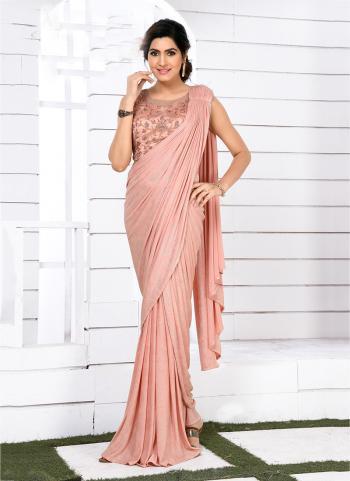 Fancy Pink Wedding Wear Hand Work Saree