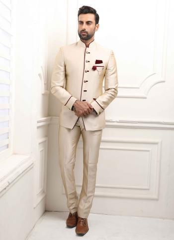 Faun Jodhpuri Party Wear Fancy Work Jacket And Pant