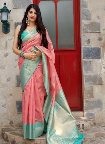 Gajri Banarasi Silk Wedding Wear Zari Work Saree