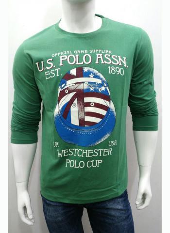 Daily Wear Green Cotton Plain T-Shirts