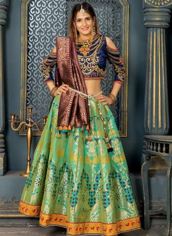 Green Silk Wedding Wear Resham Work Beautiful Bridal Special Lehenga Choli