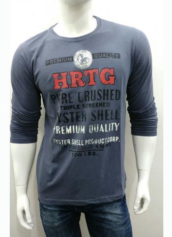 Grey Cotton Casual Wear Plain Letest T-Shirts