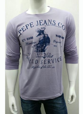 Grey Cotton Casual Wear Plain T-Shirts