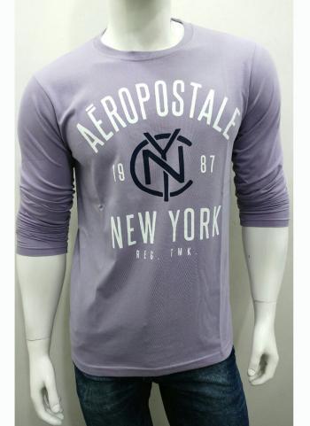 Look Good Grey Cotton Casual Wear Plain T-Shirts