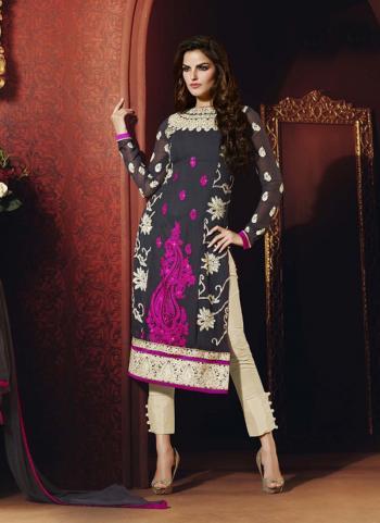 Grey wholesale designer salwar kameez for party wear
