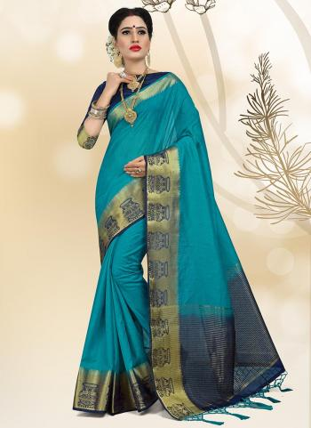 Morpich Linen Wedding Wear Border Work Saree