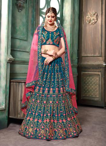 Morpich Silk Party Wear Sequins Work Lehenga Choli