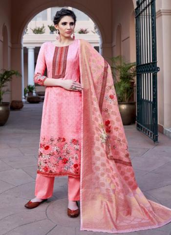 Pink Fancy Casual Wear Digital Print Straight Suit