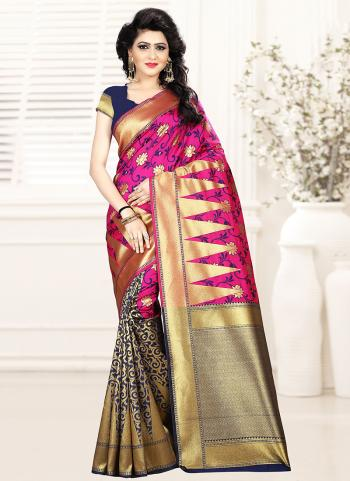 Rani Art Silk Festival Wear Embroidery Work Saree