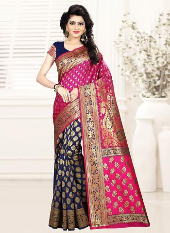 Rani Art Silk Party Wear Zari Work Saree
