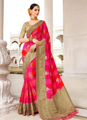 Rani Fancy Party Wear Border Work Saree