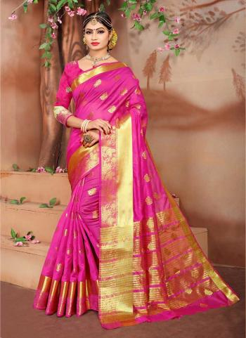 Rani Weaving Silk Festival Wear Zari Work Saree