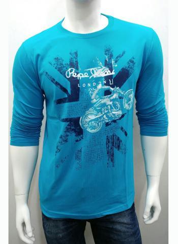 Sky Blue New Cotton Casual Wear Plain T-Shirts