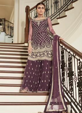 Wedding Wear Embroidery Work Sharara Suits Collection