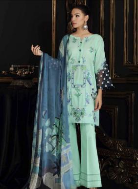 Traditional Wear Schiffli Work New Designer Pakistani Suits Collection