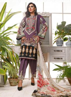 Digital Printed Latest Designer Pure Cotton Pakistani Suits Collection