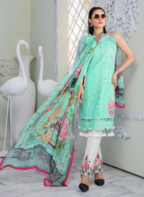 Lawn Cotton New Designer Chikan Work Pakistani Suits Collection