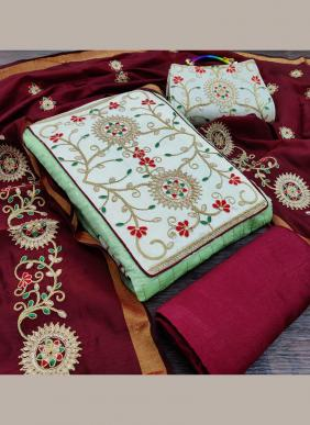 Modal Chanderi Latest Designer Choli Work Traditional Wear Salwar Suits Collection