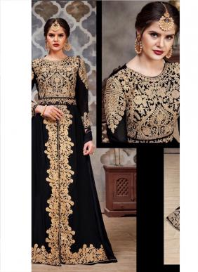Senhora Dresses Aroma Heavy Embroidery Work Latest Designer Faux Georgette Salwar Suits Collection