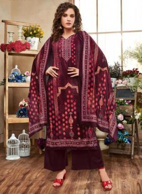 Neha Fashion Tanisha Additional Diamond Work Velvet Palazzo Suits Winter Collection