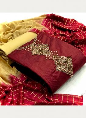 VT Designer Modal Chanderi Silk Neck Hand Work Latest Designer Casual Wear Salwar Suits Collection