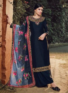 Fiona Gulfam Soft Silk Hand Work Latest Designer Party Wear Palazzo Suits Collection