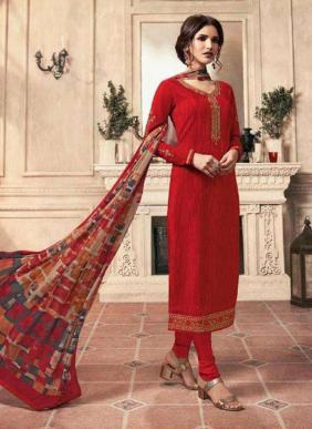 LT Nitya Vol 159 New Designer Crepe Embroidery Work Festival Wear Churidar Suits Collection