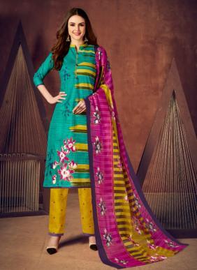 JS Priya Priti Vol 2 Exclusive Designer Regular Wear Cotton Fancy Printed Salwar Suits Collection