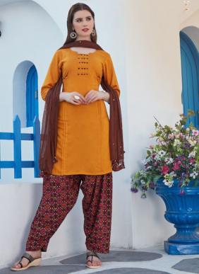 Kushal Anaya New Fancy Rayon Daily Wear Printed Readymade Patiyala Suits Collection