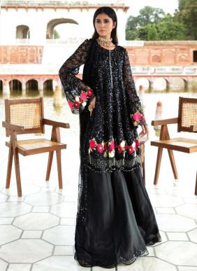 Serene Majestic Faux Georgette New Designer Heavy Embroidery Work Pakistani Suits Collection