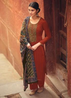 Levisha Panihari Heavy Self Embroidery Work Pure Jam Cotton New Fancy Palazzo Suits Collection