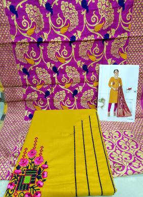 Rahul NX Cotton Salwar Suits Collection With Meenakari Dupatta